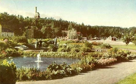Park i Söderhamn, 40- eller 50-tal.