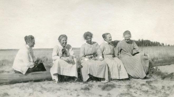 Vid Sandkullarna 1921.